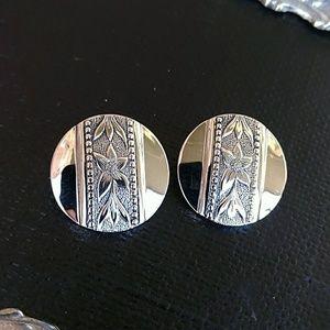 Whiting & Davis Silver Clip On Earrings